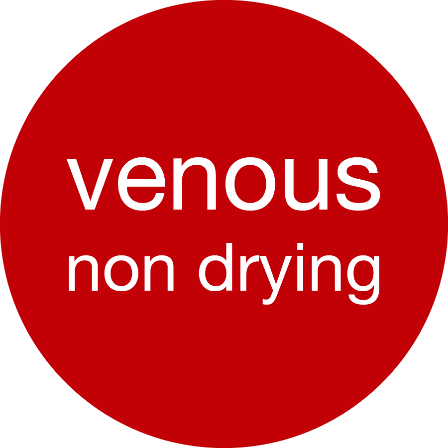 Venous-non drying washable
