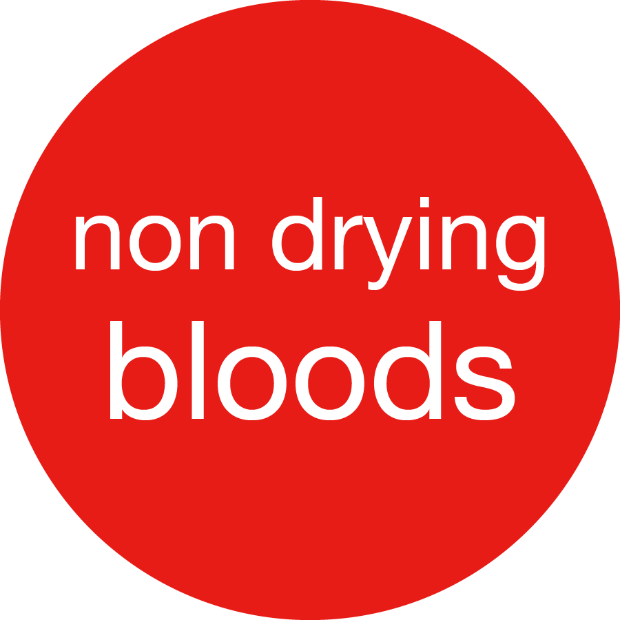Arterial-non drying Large quantity professional blood